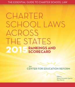Charter Laws 2015 report cover