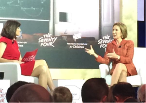 Carly Fiorina discusses innovation in education with Campbell Brown at the New Hampshire Education Summit.