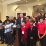 President Trump meets with students at the White House